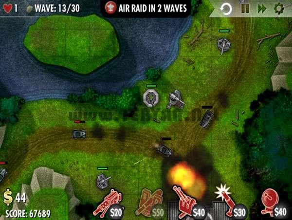 بازی مهیج دفاع از پایگاه، iBomber Defense