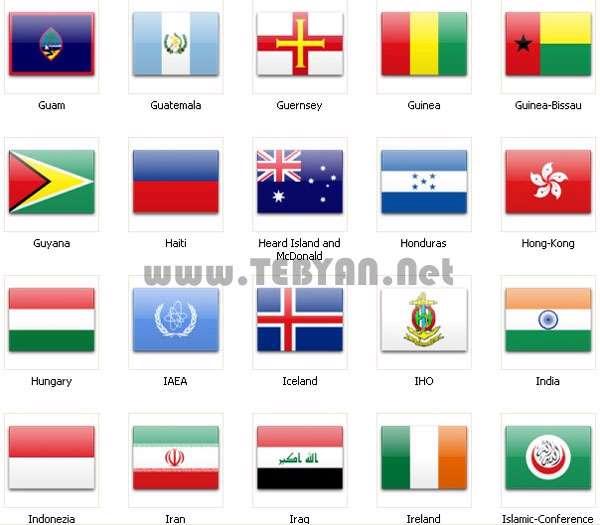 مجموعه آیکون پرچم کشورها (سری دوم)