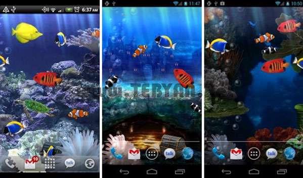 کاغذ دیواری متحرک و جذاب آکواریوم نسخه اندروید، Aquarium Live Wallpaper v3.0