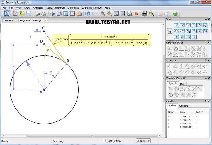 رسم اشکال هندسی به همراه نسخه قابل حمل، Geometry Expressions 3.0.35 SP2
