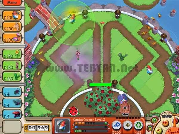 بازی دفاع از باغ، Garden Defence