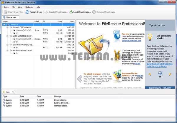 بازیابی اطلاعات، FileRescue Pro 4.8 Build 197