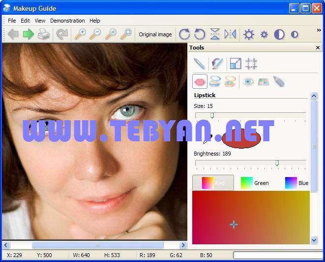 روتوش تصویر چهره، Makeup Guide 1.3