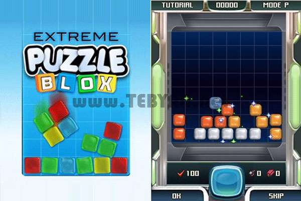 بازی پازل بلوک های ژله ای نسخه جاوا، Extreme Puzzle Blox
