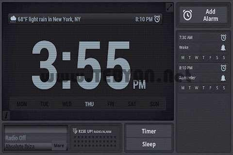 ساعت زنگ دار نسخه اندروید، Rise Up! Alarm/Radio