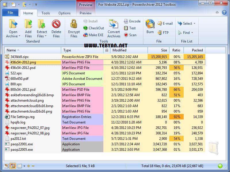 فشرده ساز قدرتمند فایل + پرتابل، PowerArchiver 2012 13.03.01 Final