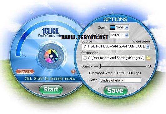 تبدیل فیلم های دی وی دی به فرمت های تصویری، 1CLICK DVD Converter 2.2.3.3