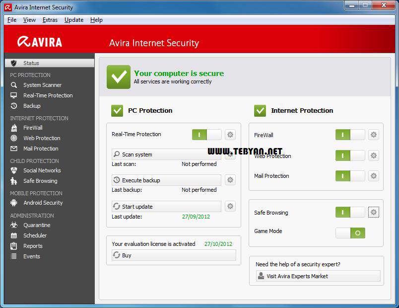 بسته امنیتی قدرتمند آویرا، Avira Internet Security 2013 13.0.0.2693 Final