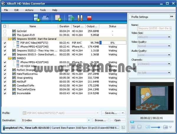 تبدیل فیلم با کیفیت اچ دی، Xilisoft HD Video Converter 7.5.0