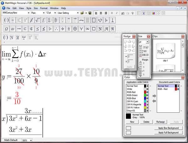 تایپ فرمولهای ریاضی، MathMagic 7.2.0.22