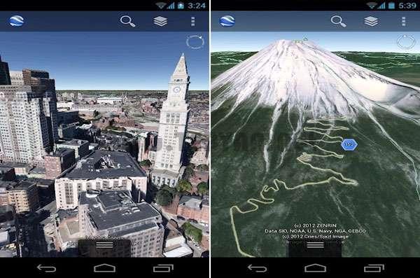 جستجوی کلیه نقاط کره زمین نسخه اندروید، Google Earth v7.0.2.8403