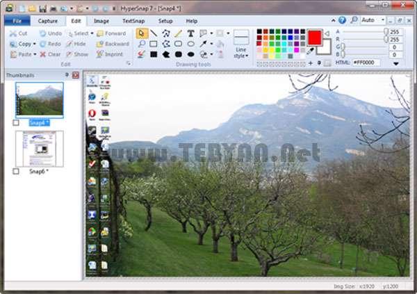 گرفتن عکس از صفحه نمایش + پرتابل، HyperSnap 7.19.00