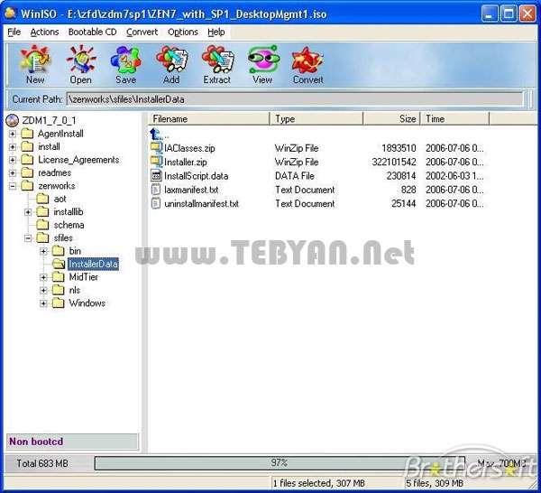 مدیریت و ویرایش ایمیج، WinISO 6.3.0.4735