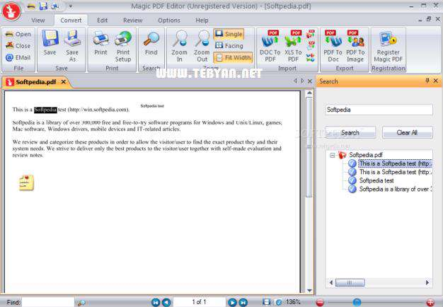 ویرایش سریع فایل های پی دی اف، Magic PDF Editor 2.3 Retail