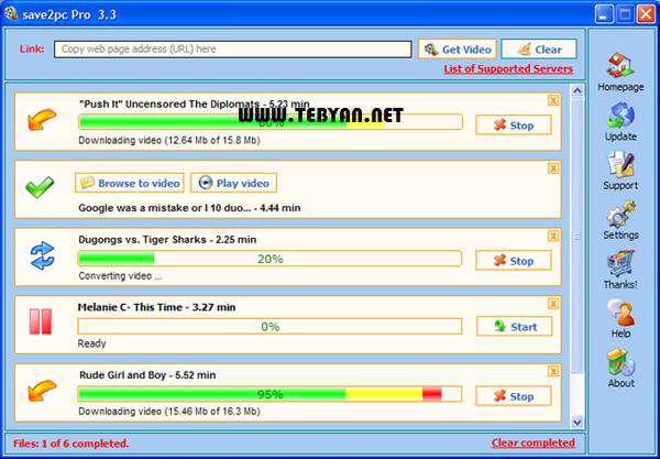 ذخیره و تبدیل ویدیوهای آنلاین + پرتابل، Save2pc Ultimate 5.19 Build 1411