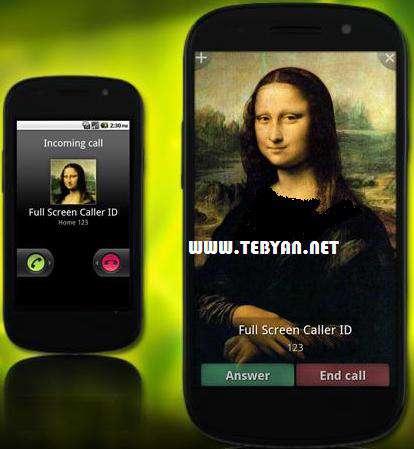 نمایش تمام صفحه عکس تماس گیرنده، Full Screen Caller ID Pro 9.2.8