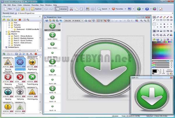 ایجاد و ویرایش حرفه ای آیکون به همراه نسخه قابل حمل، Axialis IconWorkshop Pro 6.8.0