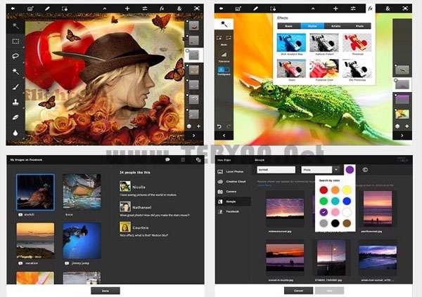 فتوشاپ لمسی نسخه اندروید، PS Touch v1.3.0