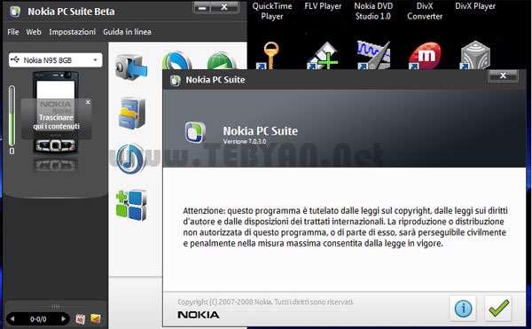 مدیریت موبایل های نوکیا، Nokia PC Suite 7.1.180.94