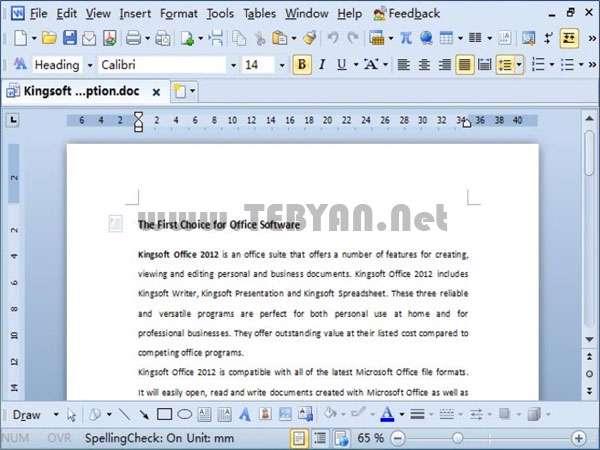 بسته کوچک و پیشرفته آفیس، Kingsoft Office 2012 Pro 8.1.0.3377
