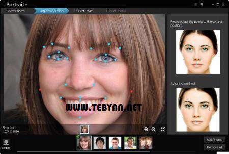 رتوش و زیباسازی تصاویر چهره + پرتابل، ArcSoft Portrait Plus 1.1.0.128