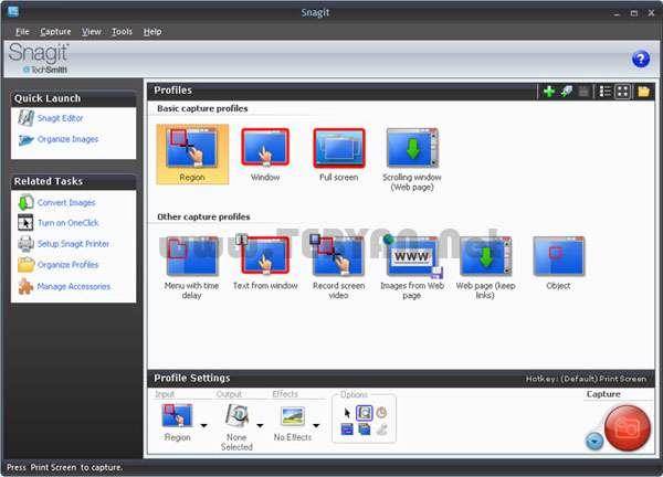 تصویربرداری از صفحه مانیتور، TechSmith Snagit 11.0