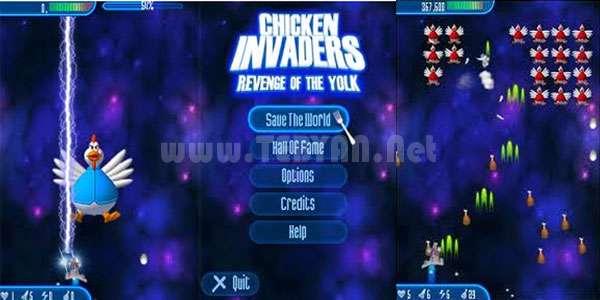 بازی مرغ های مهاجم نسخه جاوا، Chicken Invaders