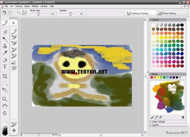 خلق نقاشی های زیبا، Corel Painter Essentials 4.0.1.58 Retail