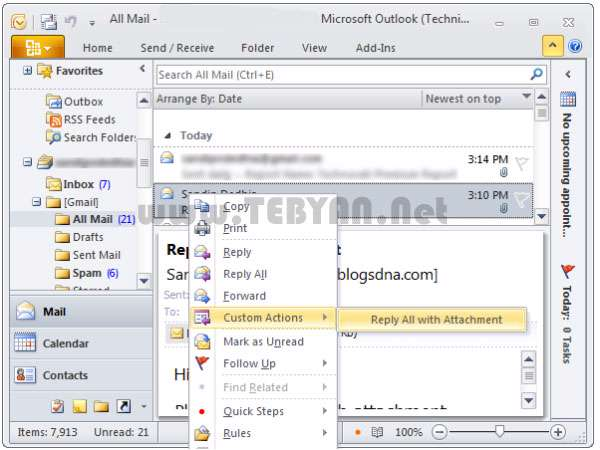 کتاب آموزش فارسی و تصویری Microsoft Outlook 2010