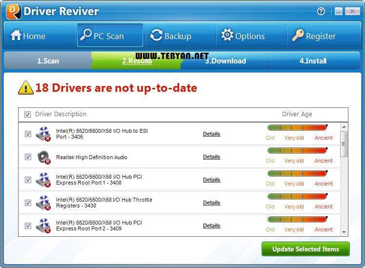 بروزرسانی درایورهای سیستم، Driver Reviver 4.0.1.28
