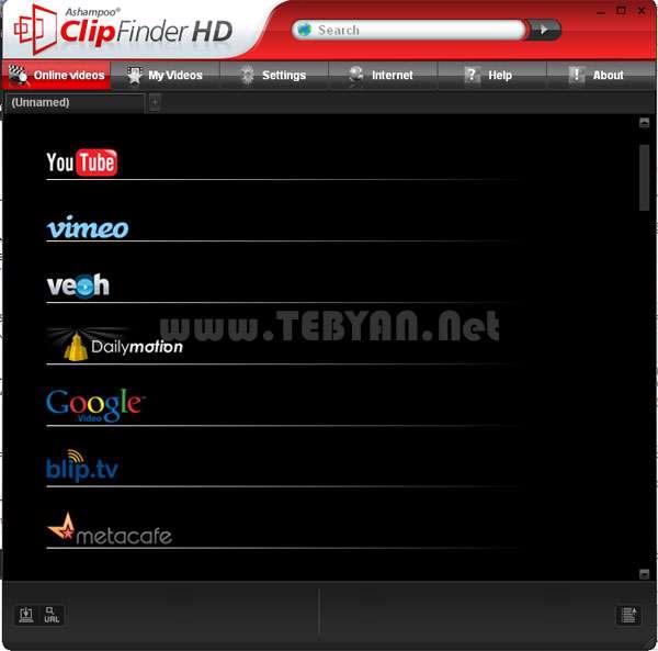 دانلود کلیپ های آنلاین اینترنت به همراه نسخه قابل حمل، Ashampoo ClipFinder HD 2.28