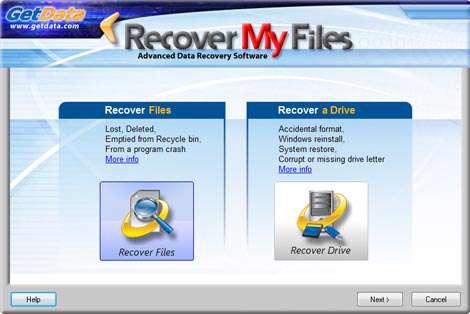 بازیابی قدرتمند اطلاعات پاک شده به همراه نسخه قابل حمل، GetData Recover My Files 5.1.0.1824