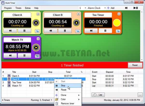 زمان سنج و تایمر ویندوز، Multi Timer Ultimate 3.10