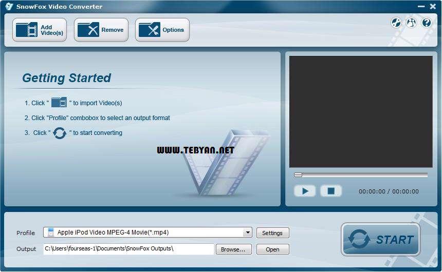مبدل قدرتمند فایل های تصویری، SnowFox Total Video Converter 3.1.0.0