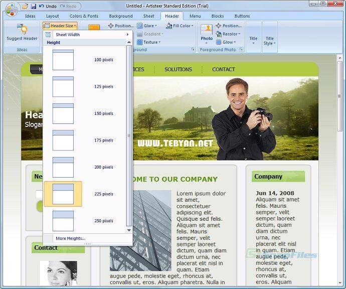 طراحی قالب سایت، Artisteer 4.0.0.58475 Final