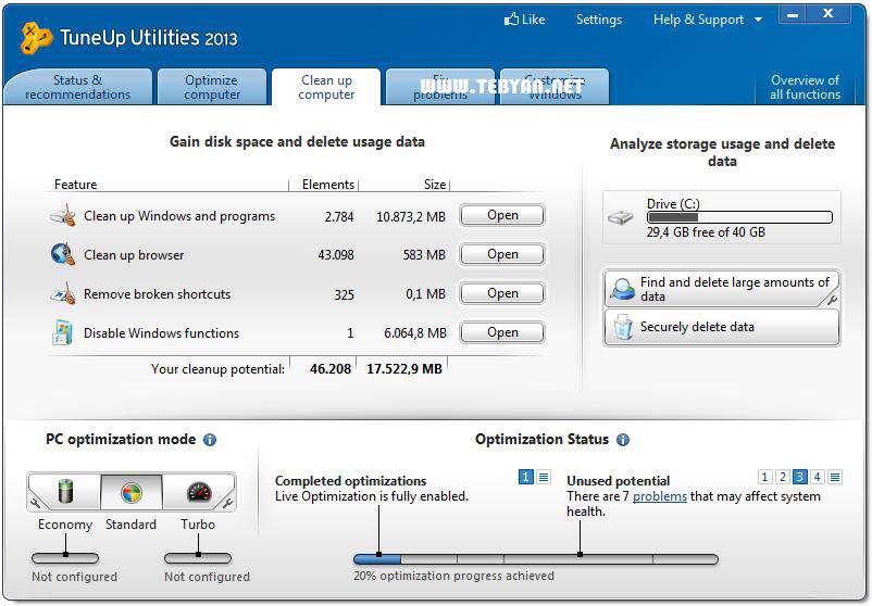 بهینه کننده سیستم، TuneUp Utilities 2013 13.0.2020.14 Final