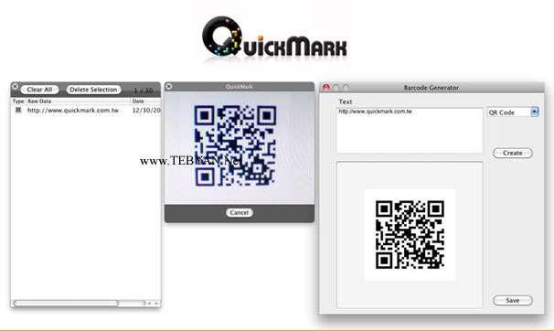 کدگذاری متون با بارکد و کدهای QR نسخه کامپیوتر و اندروید، QuickMark 3.8