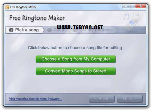 ساخت رینگتون دلخواه برای تلفن همراه، Free Ringtone Maker 2.4.0.888