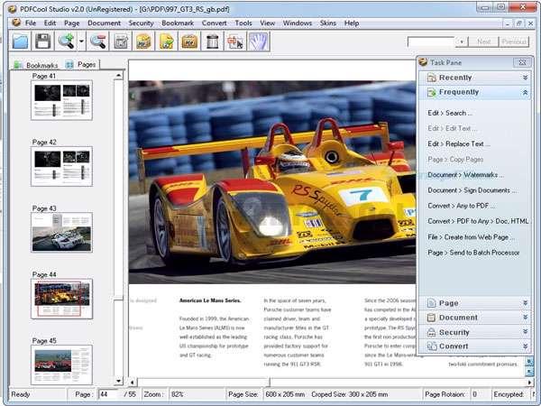 مدیریت فایل های پی دی اف، PDFCool Studio 3.00 Build 121022