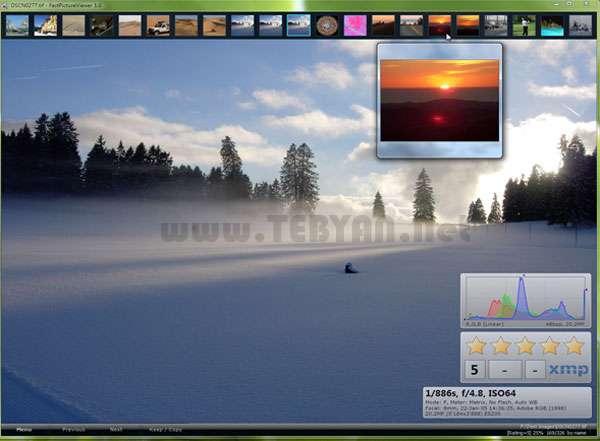 نمایش حرفه ای تصاویر، FastPictureViewer Home Basic 1.9.271