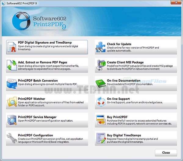 تعریف چاپگر مجازی و ایجاد اسناد پی دی اف، Print2PDF 9.5.12