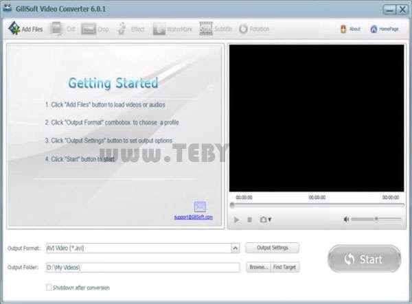 تبدیل فایل های ویدئویی، GiliSoft Video Converter 6.4