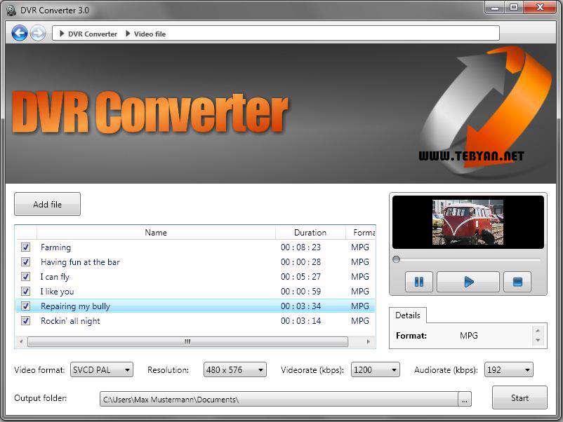 مبدل فایل های ویدیویی گیرنده دیجیتال، Engelmann DVR Converter 3.0.12.912