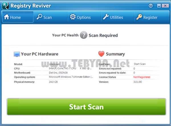 بهینه سازی رجیستری ویندوز به همراه نسخه قابل حمل، Registry Reviver 3.0.1.106