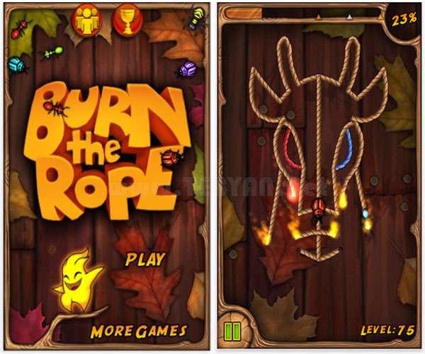 بازی طناب را بسوزان نسخه اندروید و سیمبیان3، Burn The Rope Plus v1.2.22
