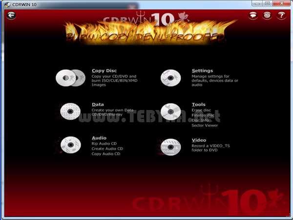 رایت CD و DVD + پرتابل، CDRWIN 10.0.12.1019