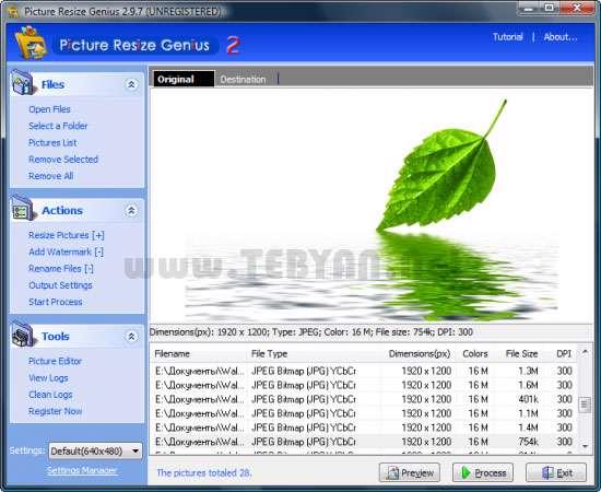 تغییر اندازه و کاهش حجم عکس بدون افت کیفیت، Picture Resize Genius 3.0.1