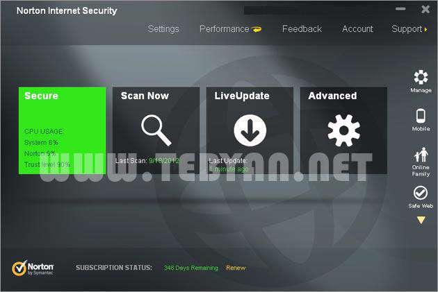 بسته امنیتی نورتون، Norton Internet Security 2013 20.2.0.19 Final