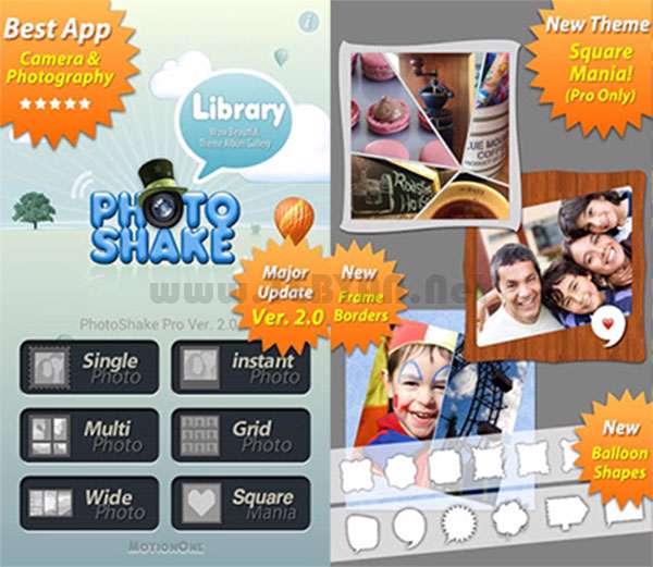 افکت گذاری عکس نسخه اندروید، PhotoShake Pro v2.0.1