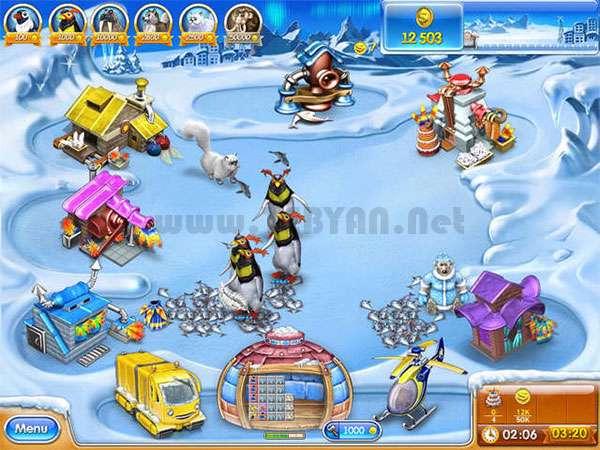 بازی مدیریت مزرعه 3 عصر یخ نسخه قابل حمل، Farm Frenzy 3 Ice Age